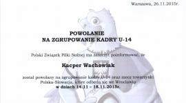 Wychowanek Warty Kacper Wachowiak w Reprezentacji Polski