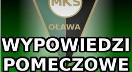 MKS - POLONIA-STAL: Wypowiedzi pomeczowe