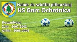 Nabór do Szkółki Piłkarskiej KS Gorc Ochotnica.