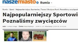 Najpopularniejszy Sportowiec, Trener i Drużyna Rumi. Poznaliśmy zwycięzców