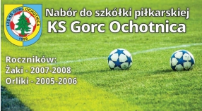 Zapisy do Szkółki Piłkarskiej KS Gorc Ochotnica.