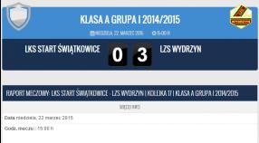 Start Świątkowice - LZS Wydrzyn 0:3 (0:1)