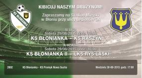 Zapraszamy na mecz z Raszynem i  Rysiem Laski!