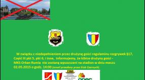 Mecz w Pruszczu bez kibiców MKS ORKAN