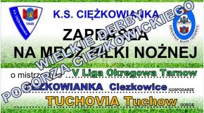 Już w niedzielę derby z Tuchovią !!!
