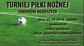 Harmonogram I Turnieju Piłki Nożnej Juniorów Młodszych.