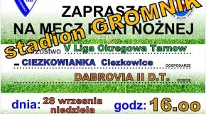 Mecz Ciężkowianki z Dąbrovią w GROMNIKU
