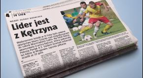 Gazeta Olsztyńska o meczu z rezerwami Stomilu