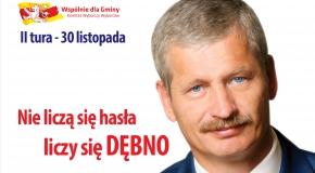 Dąb Dębno wspiera kandydaturę Piotra Downara