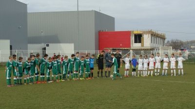 Młodzicy grali z Akademią Piłkarską 21