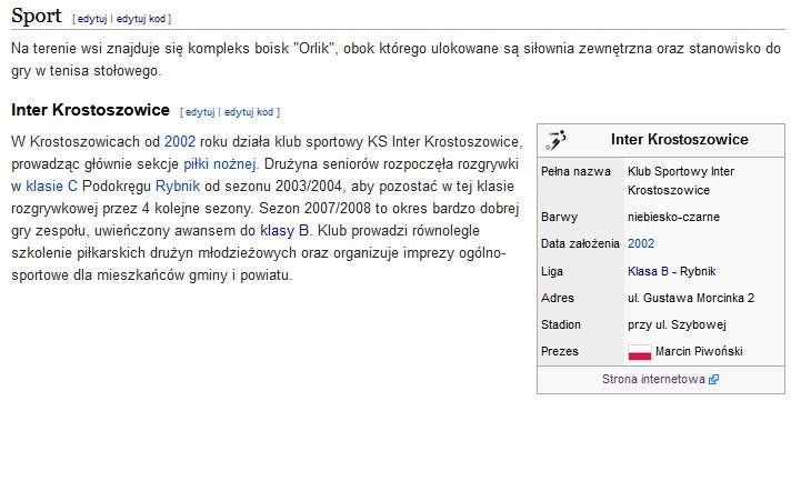 Inter Krostoszowice w Wikipedii